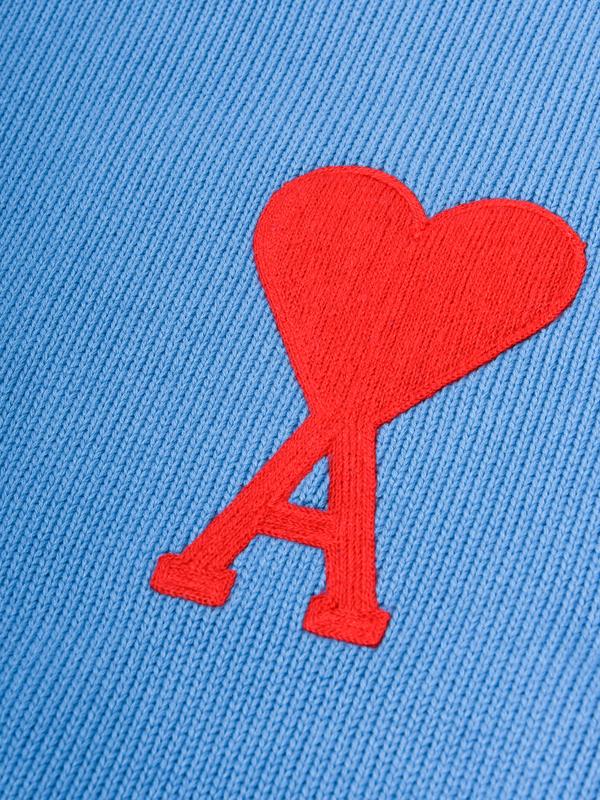 ami paris OVERSIZE FRIEND OF HEART CREWNECK SWEATER - BLUE