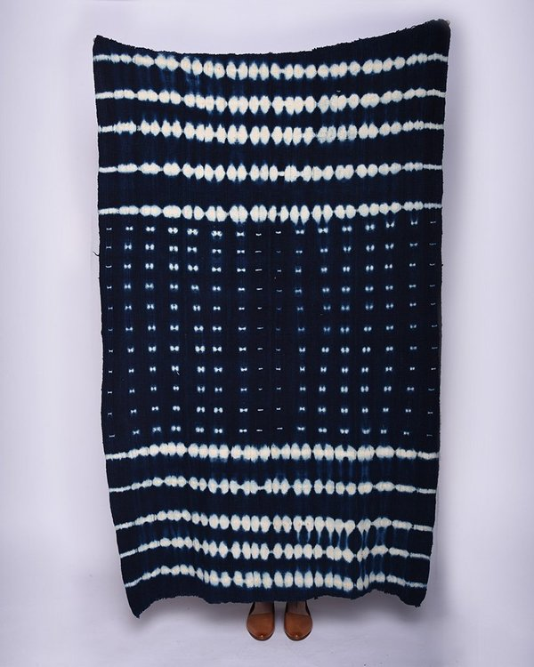 Founders & Followers Indigo mudcloth blanket III
