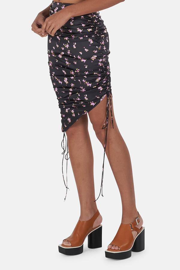 For Love & Lemons Laramie Skirt - Lavender Floral