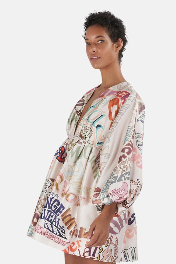 Zimmermann Ladybeetle Minidress - World Print