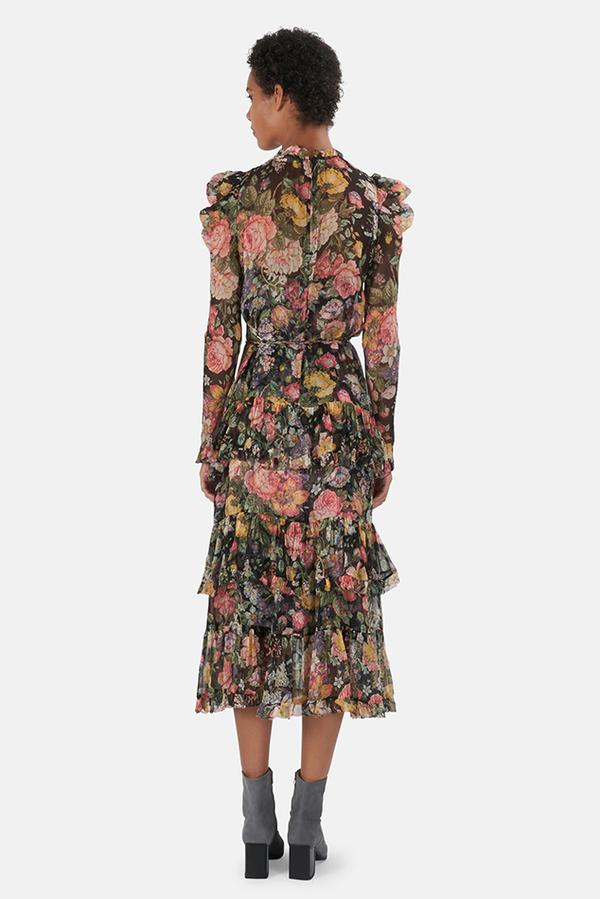 Zimmermann Ladybeetle Draped Sleeve Dress