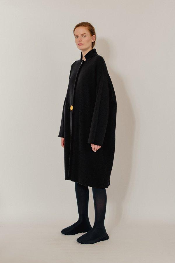 Oyuna Alba Knitted Wool Blend Coat - Star Black