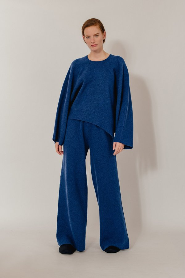 Oyuna Cloe Knitted Wool Blend Pullover - Star Blue Mix