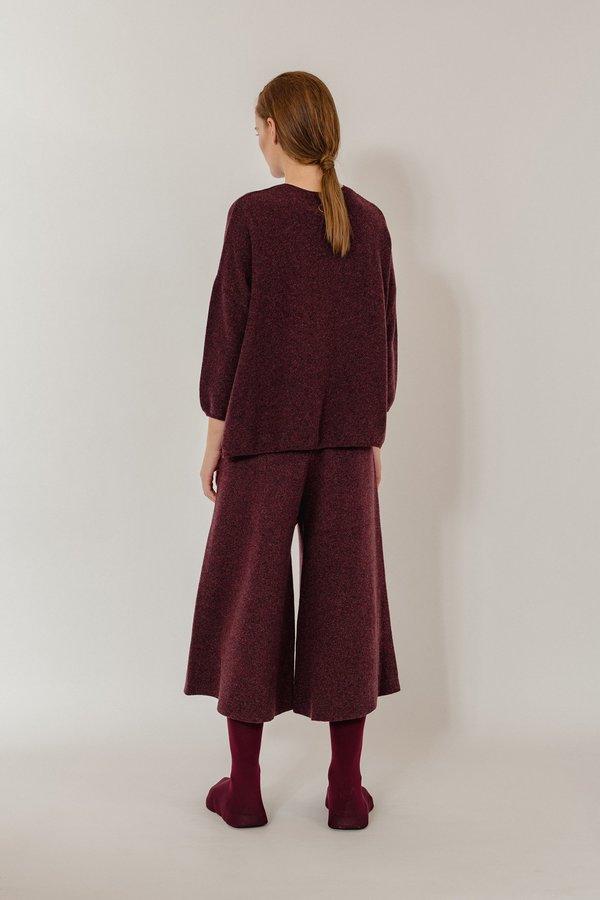 Oyuna Gabi Luxury Cashmere Pullover - Wine Mix