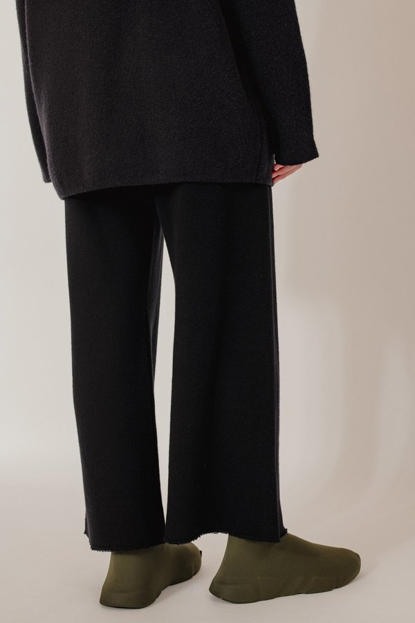 Oyuna Lak Knitted Wool Blend Trousers - Star Black