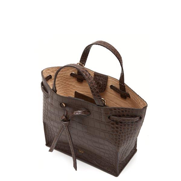 OAD Croco Mini Edie Bag - Dark Brown