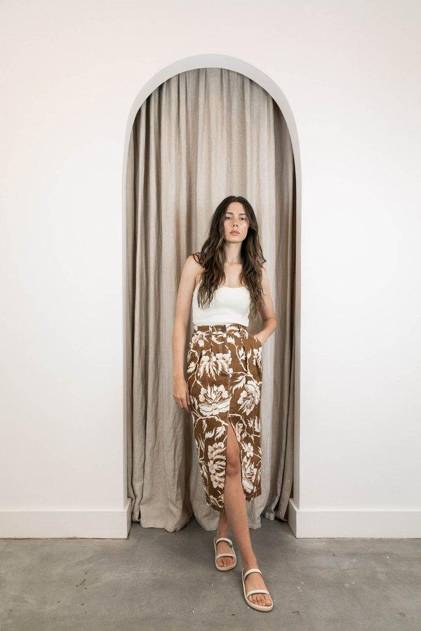 Mara Hoffman Florence Skirt - Olive Multi