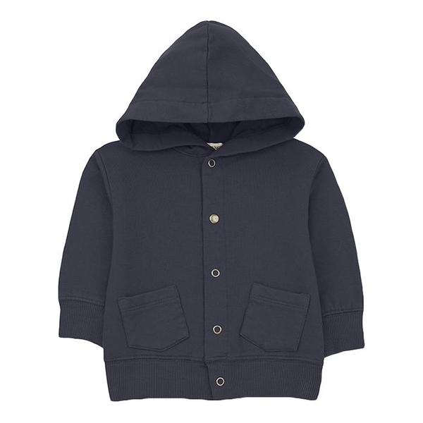 KIDS 1+ In The Family Baby And Child Boi Jacket With Hood - Navy Blue