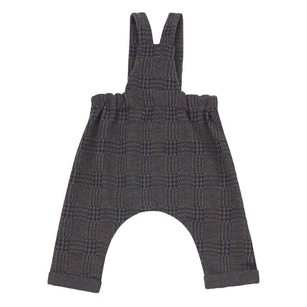 Kids 1+ In The Family Baby And Child Tahoe Overalls - Navy Blue Plaid