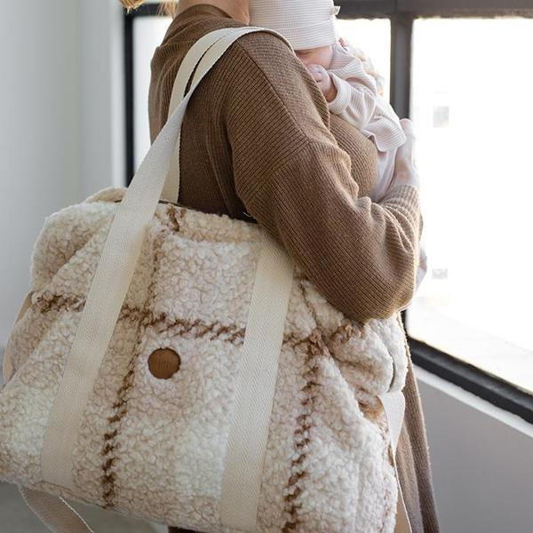 Kids 1+ In The Family Baby Diaper Bag - Cream/Furry Check
