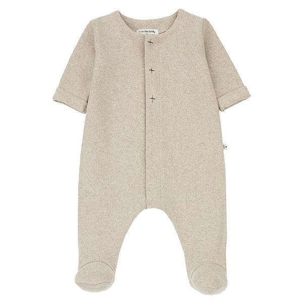 Kids 1+ In The Family Baby Odette Jumpsuit With Feet - Cream