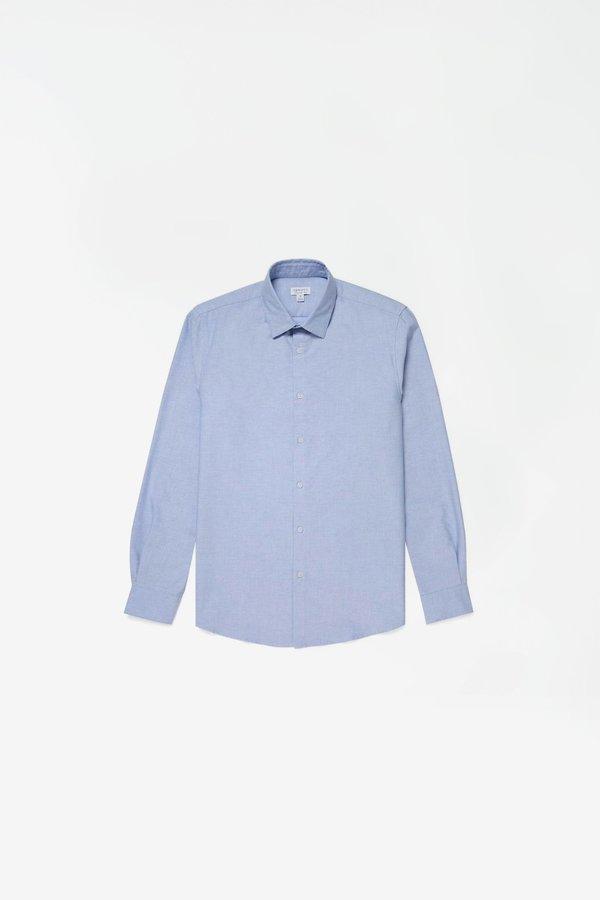 Sunspel Cotton Oxford Shirt - Light Blue