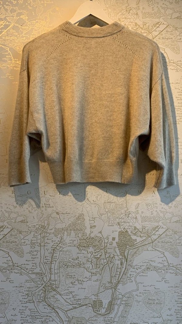 FRAME Denim Le High Rise Boxy Cashmere Sweater