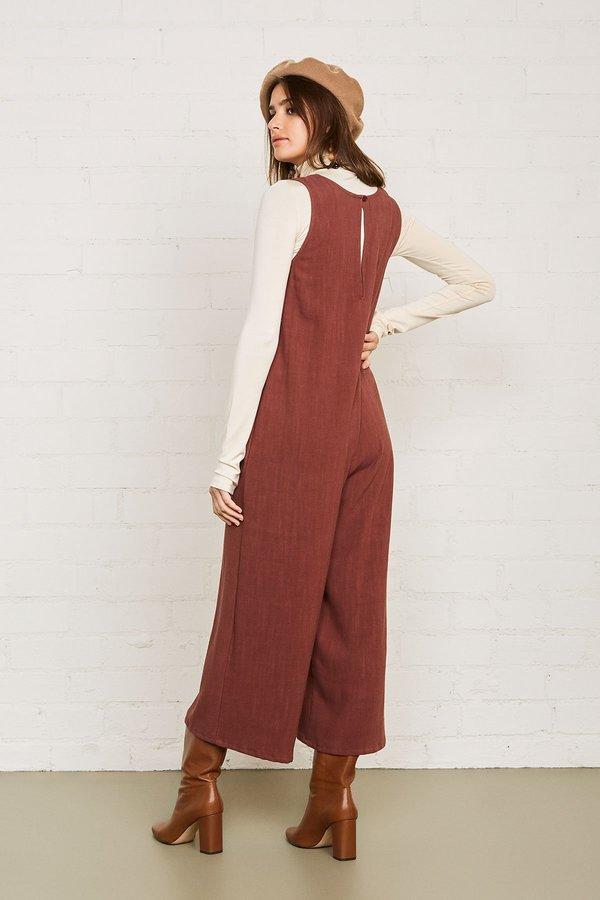 Rachel Pally Linen Remy Jumpsuit - Brick