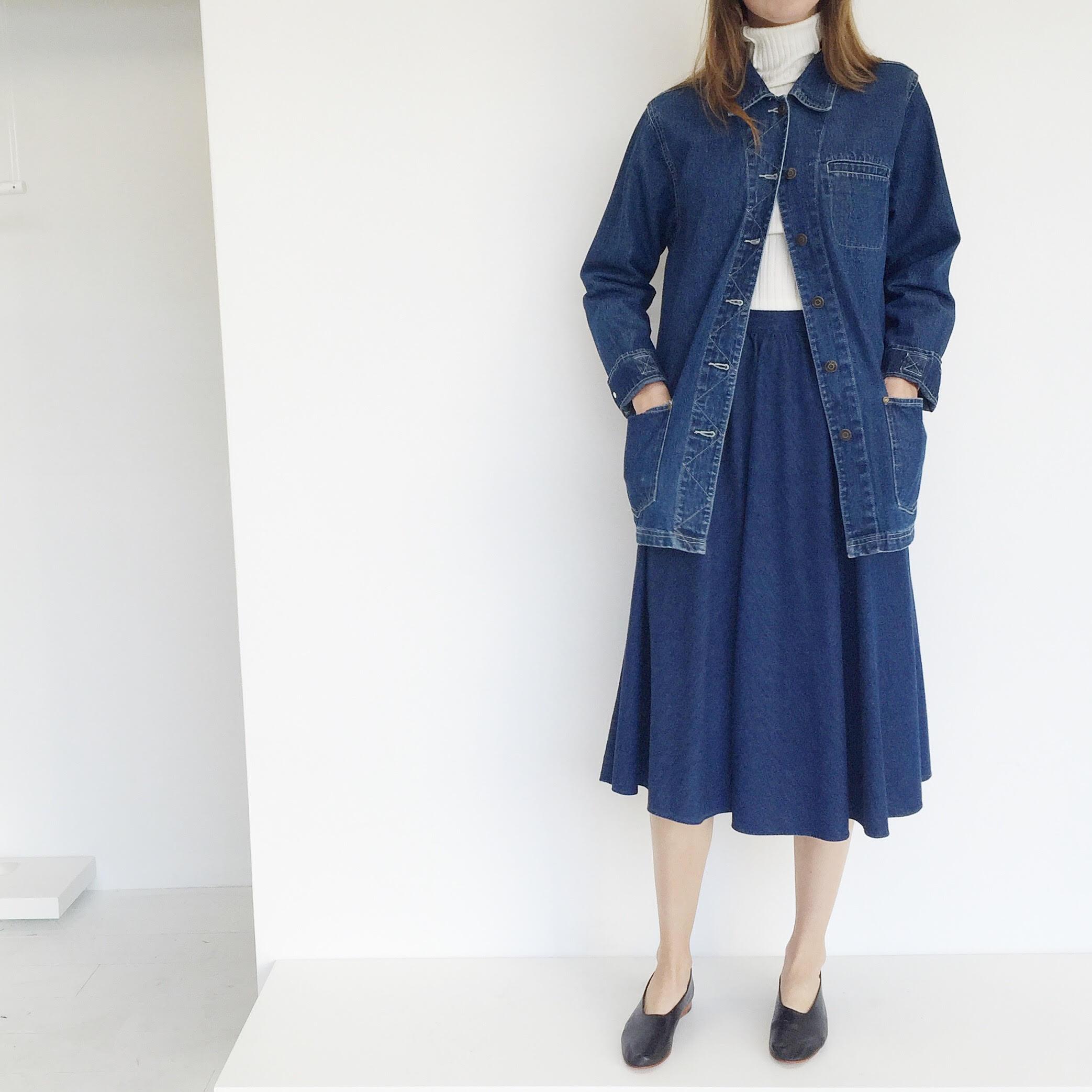 johan vintage denim circle skirt garmentory