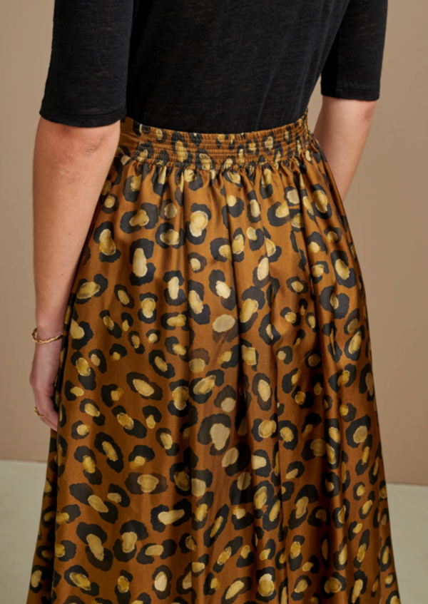 Bellerose Pacific Skirt in Silk - Leopard