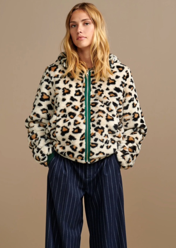 Bellerose Reversible Apache Jacket - Cheetah/Tartan