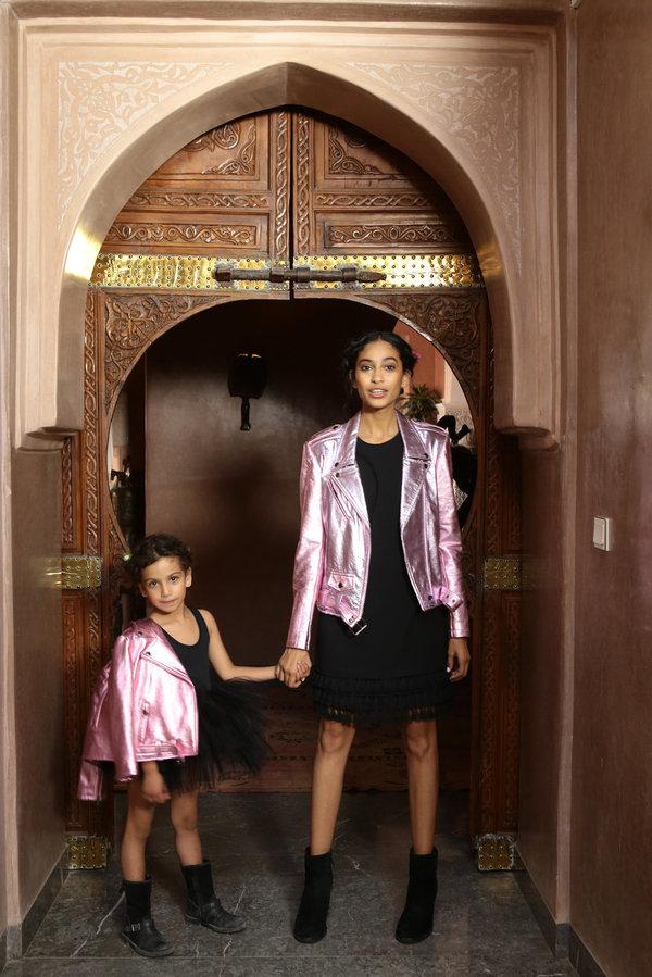 KIDS alyson eastman Moto - Pink