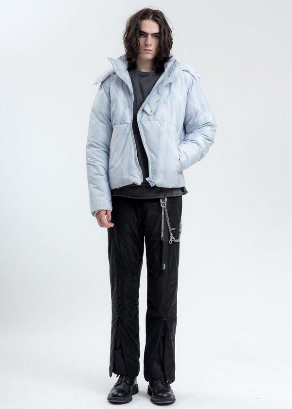 C2H4 Arc Sculpture Puffer Jacket - Light Grey