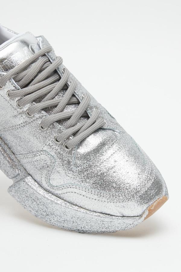MM6 Maison Margiela Glitter Dipped Sneakers - SILVER