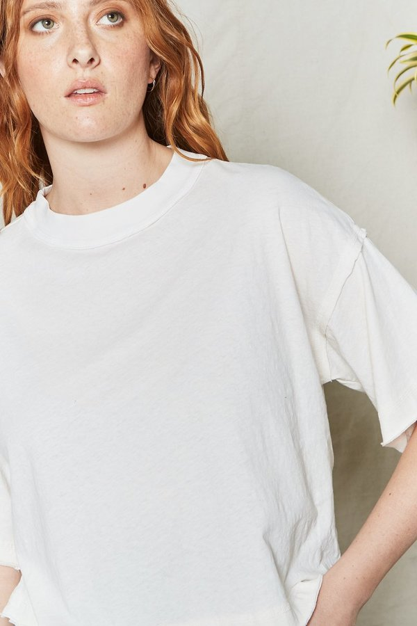 Back Beat Rags Recycled Cotton Bff Tee - Natural