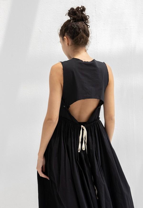 LITTLE CREATIVE FACTORY WOMAN CRINKLED DRESS - BLACK
