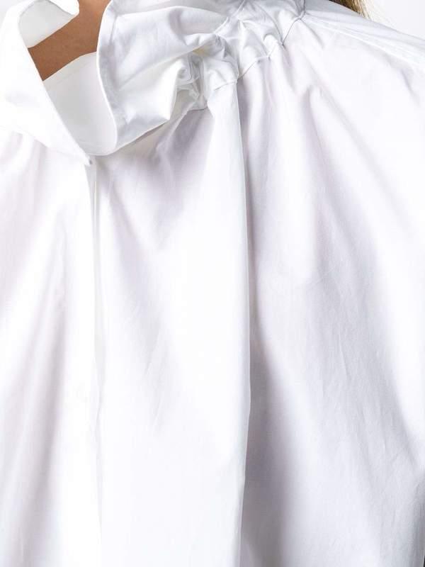 MM6 MAISON MARGIELA Funnel-neck A-line dress - WHITE