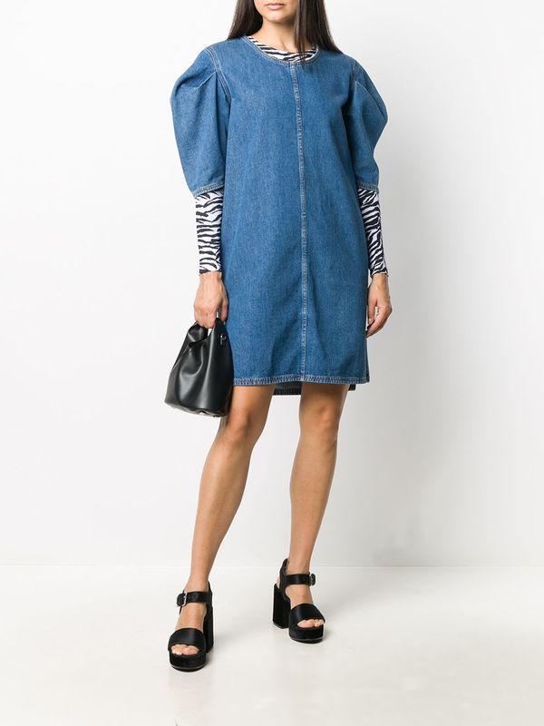 MM6 MAISON MARGIELA Short denim dress - BLUE