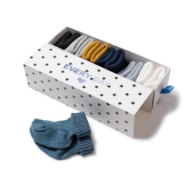KIDS bonton baby socks set - cozy blue