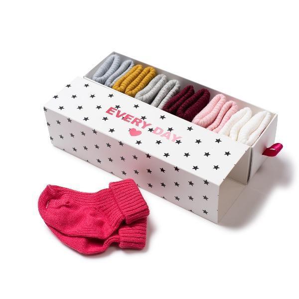 KIDS bonton baby socks set - ice pink