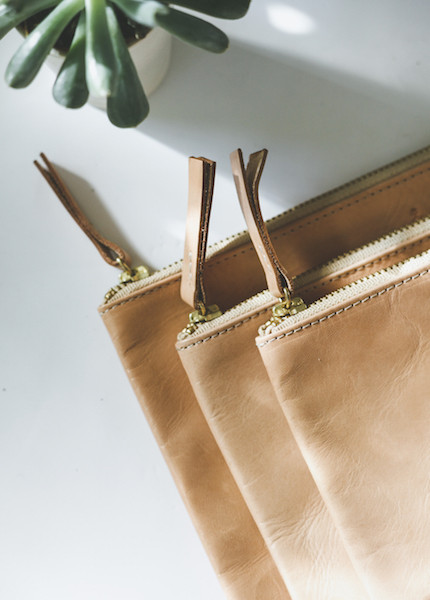 Chamula Veg Tan Pouch in Small, Medium or Large