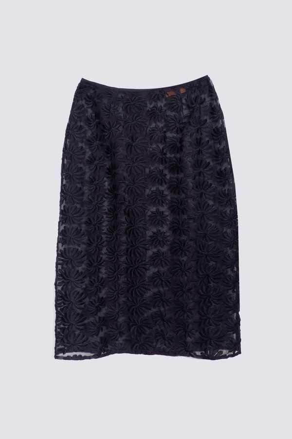 Vintage Sheer Flower Skirt