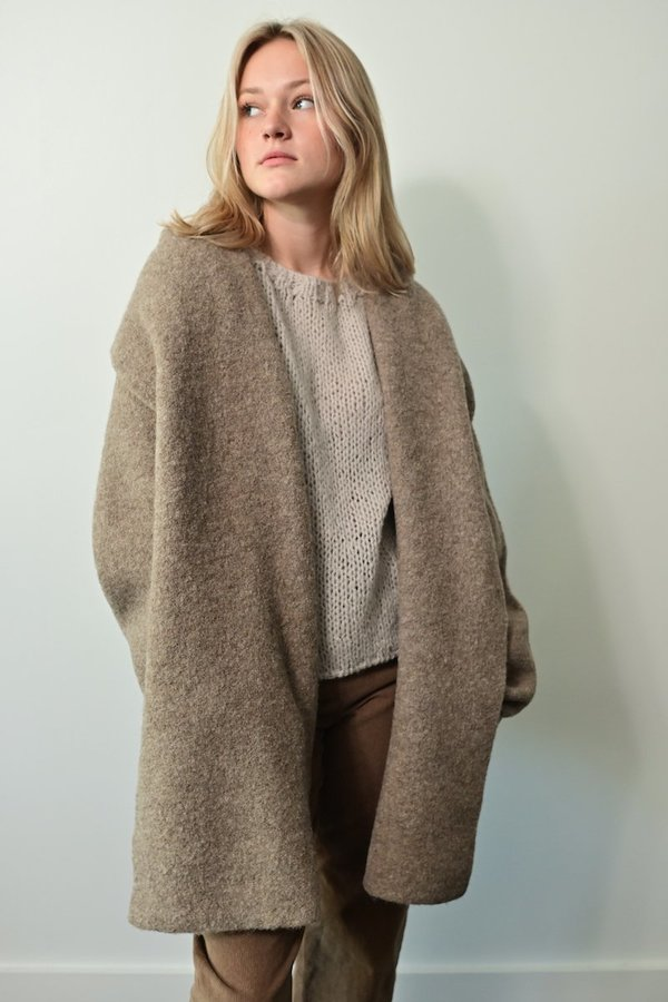 Lauren Manoogian Double Face Coat - Mouse