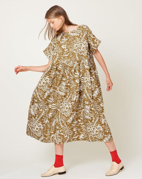 Rachel Comey Caccia Dress - Olive Ornamental