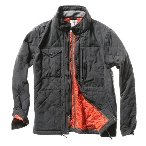 Relwen Quilted Tanker Jacket - Charcoal