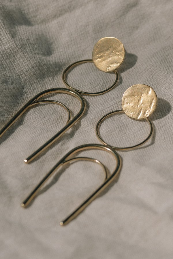 Take Shape Studio Tune the Moon Earrings
