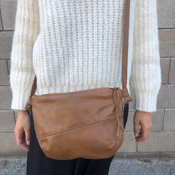 Erin Templeton TGIF Bag in Recycled Leather - Brown
