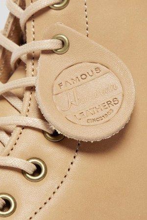 UNISEX Dr. Martens 1460 Pascal Essex Veg Tan Leather Boots - Natural