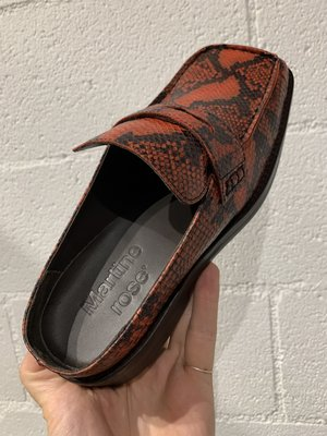 Martine Rose Snakeskin Arches Loafer Mule - Red