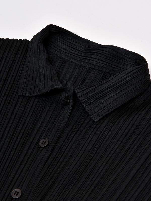 Pleats Please Issey Miyake Basic Shirt - Black