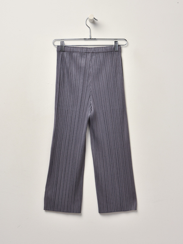 Pleats Please Issey Miyake Basic Cropped Pants - Gray