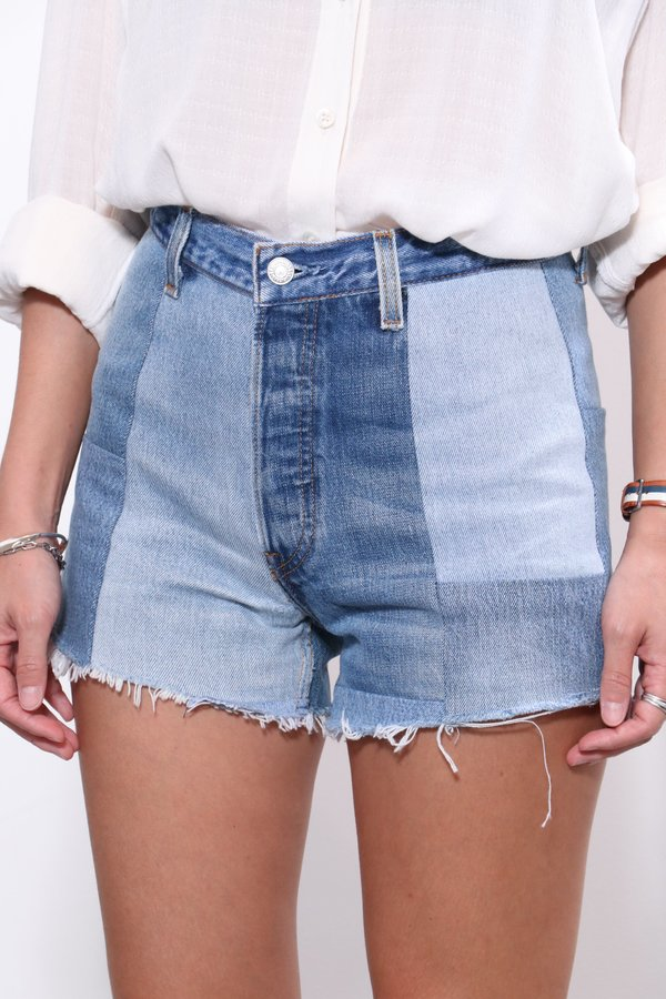 RE/DONE 70s Patched Short - Indigo