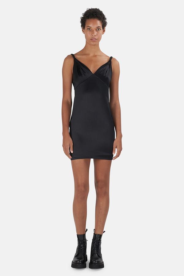 RtA Laura Slip Dress - Black
