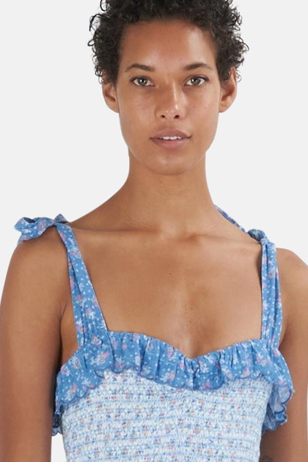 LoveShackFancy Aya Dress - Vista Blue