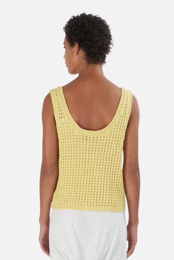 Nanushka Tula Knit Top - Acid Yellow
