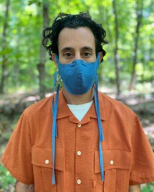Tony Shirtmakers Caccioppoli LightWEIGHT Denim Face Mask