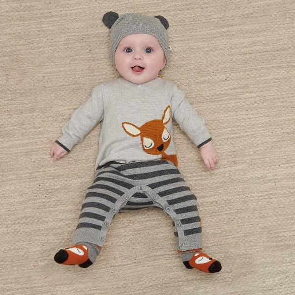 kids the bonnie mob bambi playsuit - grey