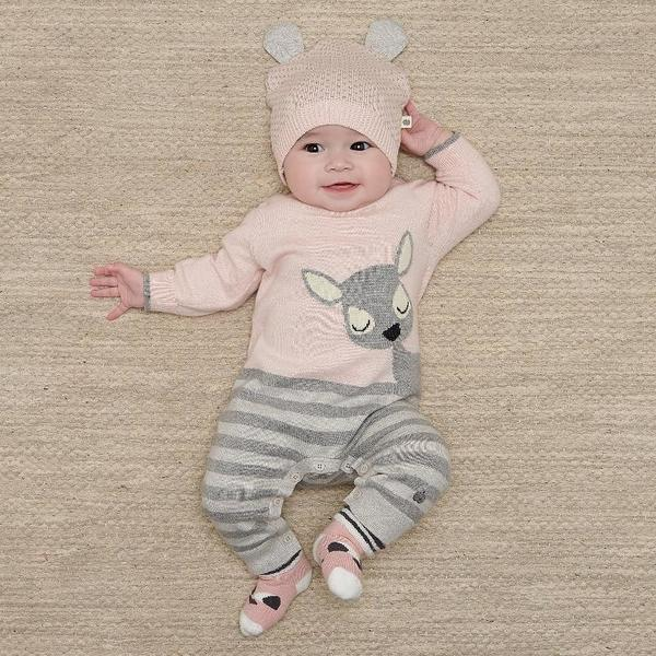 kids the bonnie mob bambi playsuit - pink