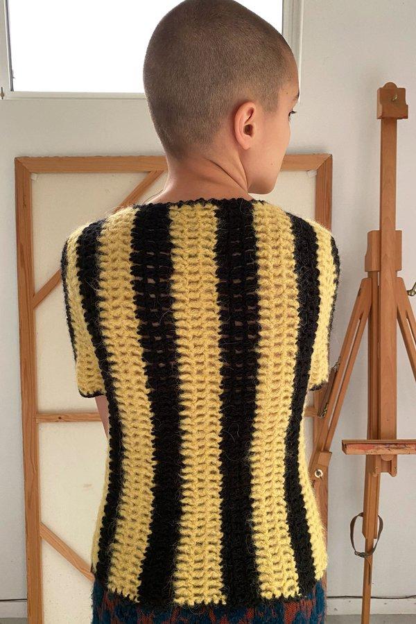 Mozh Mozh Bulu Top - Yellow/Black