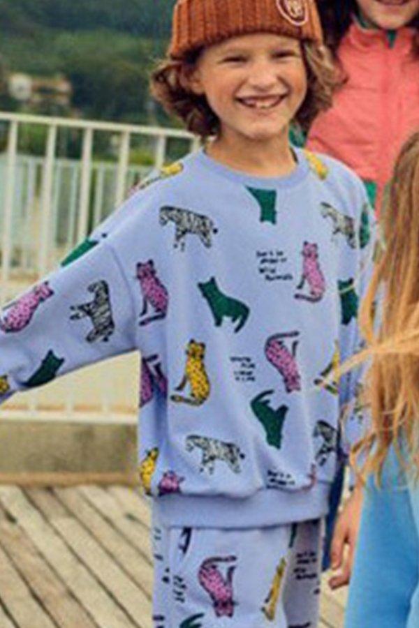 Kids Korean Collective Wild Animals Sweatshirt